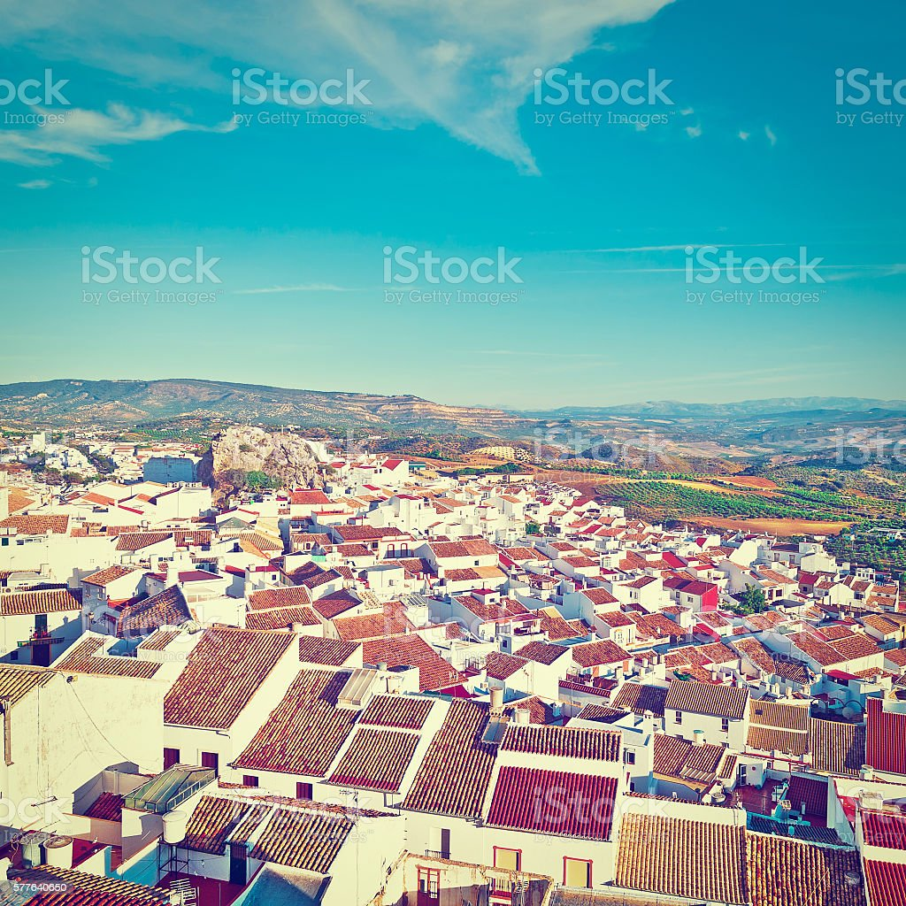 City of Olvera stock photo