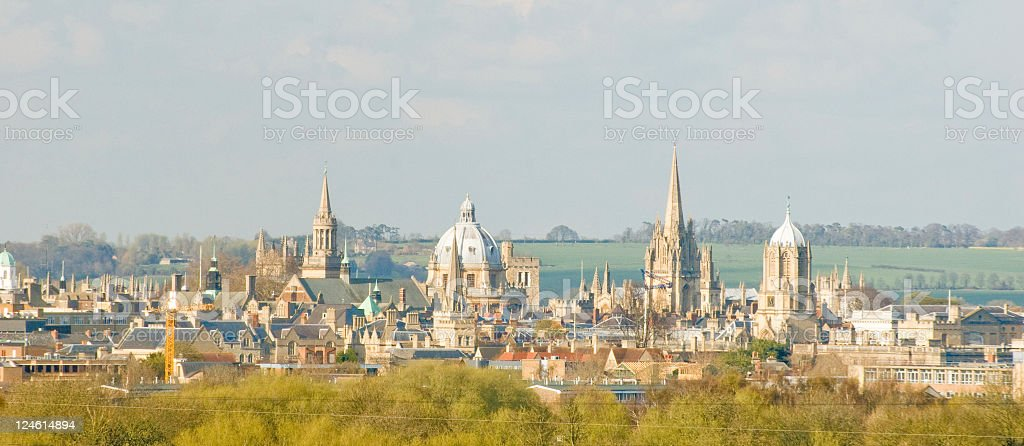 City of Oxford Spires stock photo