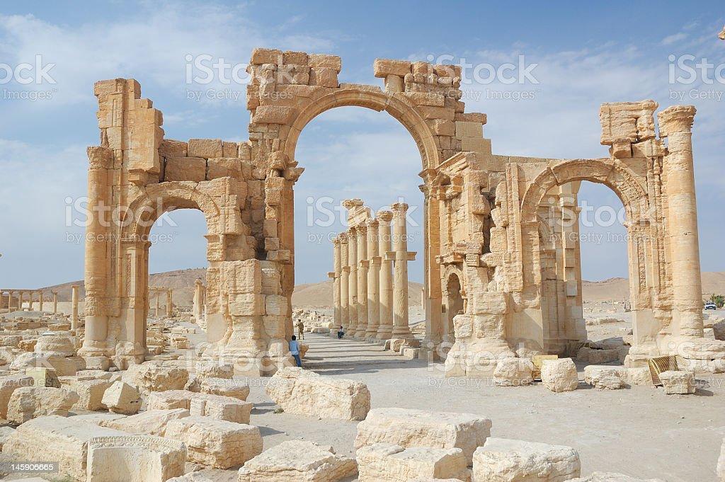 City of Palmyra stock photo