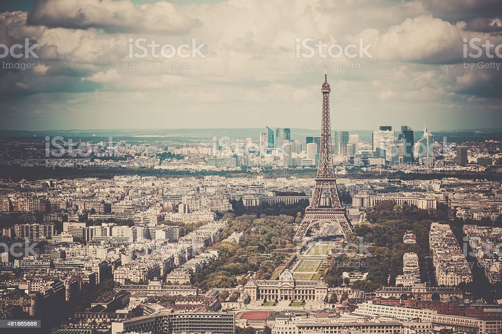 City of Paris on Summer Day, France stock photo