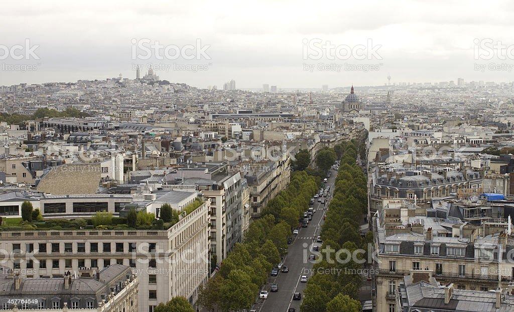 City of Paris royalty-free stock photo