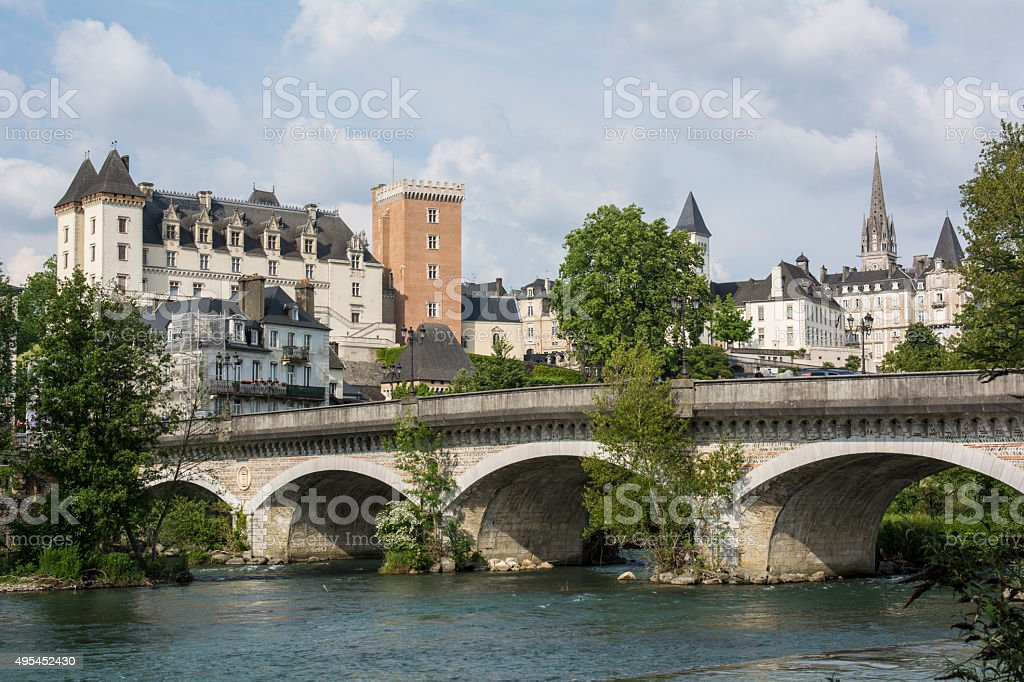 City of Pau, in France stock photo