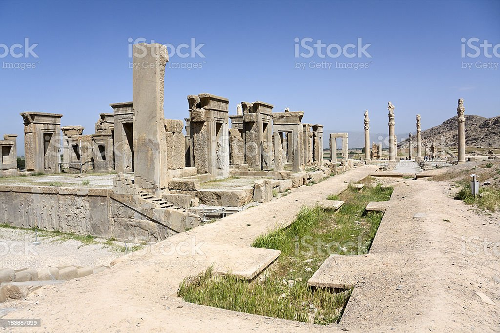 city of Persepolis stock photo