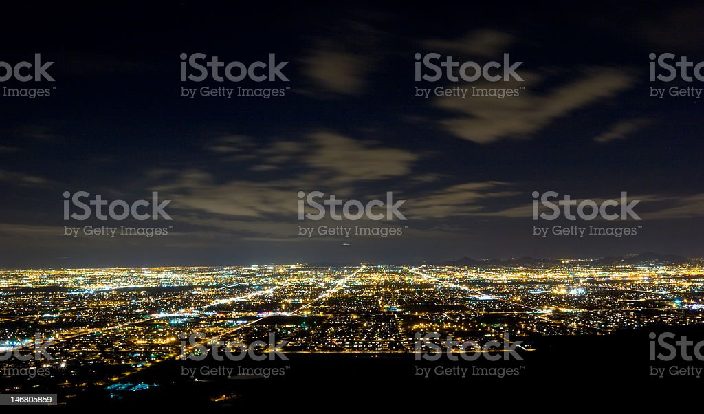City of Phoenix at Night royalty-free stock photo