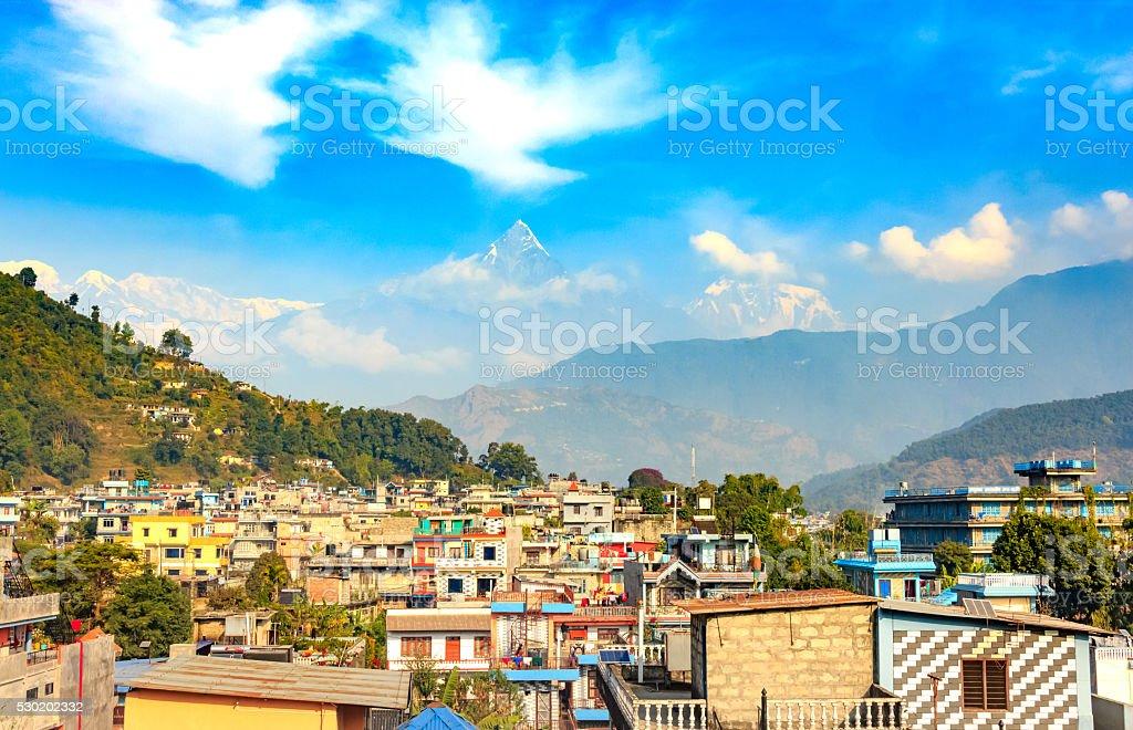 City of Pokhara,Nepal stock photo