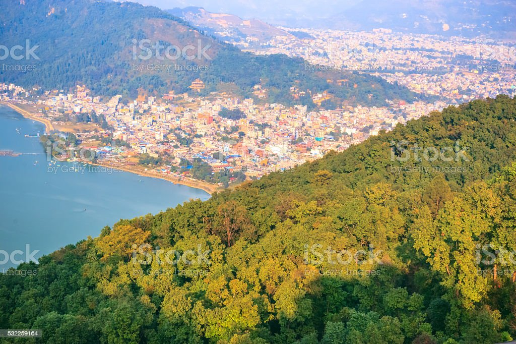 City of Pokhara,Nepal stock photo