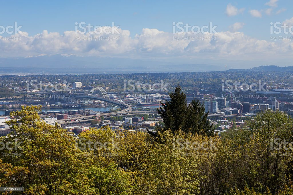 City of Portland Oregon stock photo
