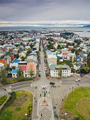 City of Reykjavik from the top