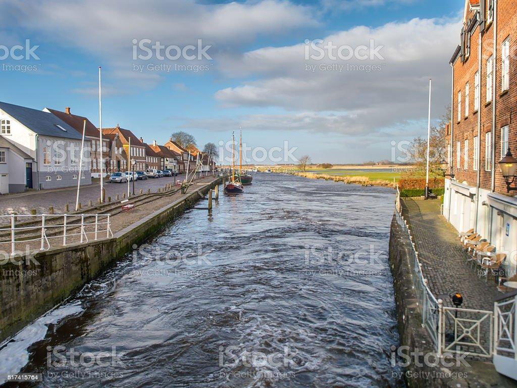 City of Ribe, Denmark stock photo