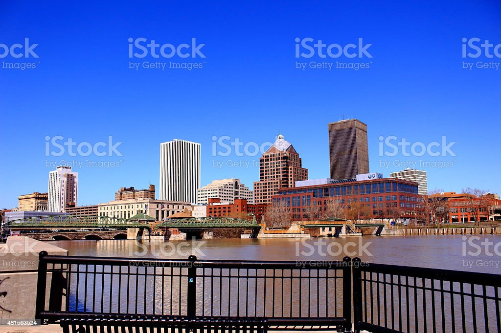 City of Rochester's skyline stock photo