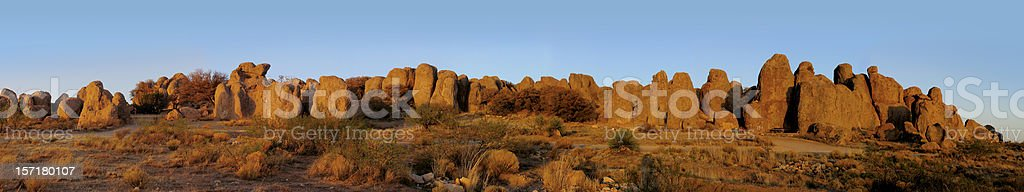 City of Rocks Panoramic royalty-free stock photo