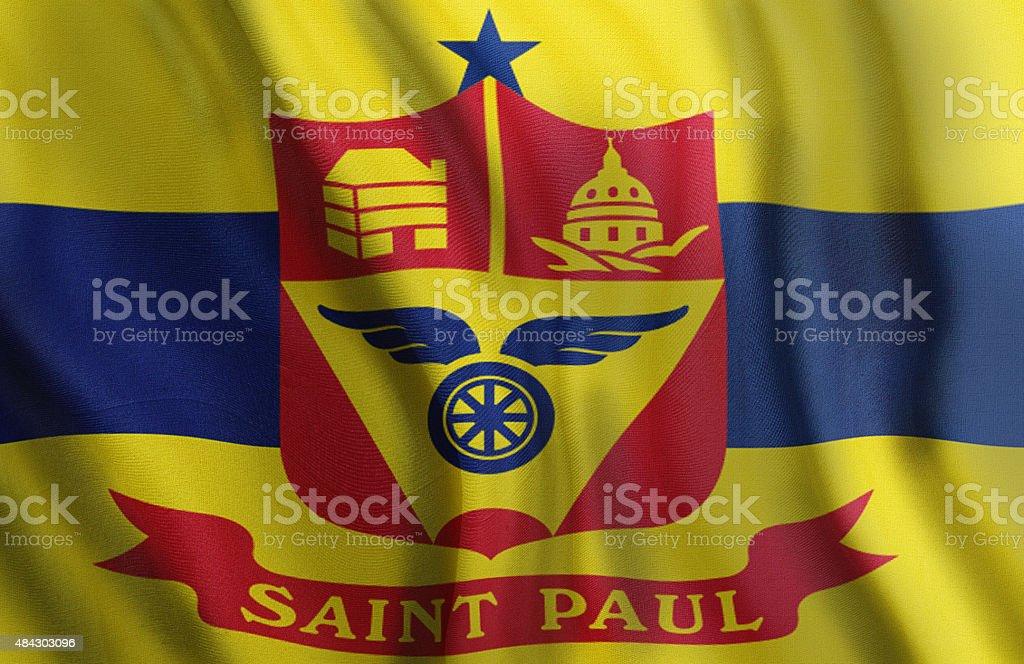 City of Saint Paul State of Minnesota Flag stock photo