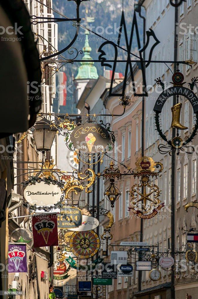City of Salzburg, Austria stock photo