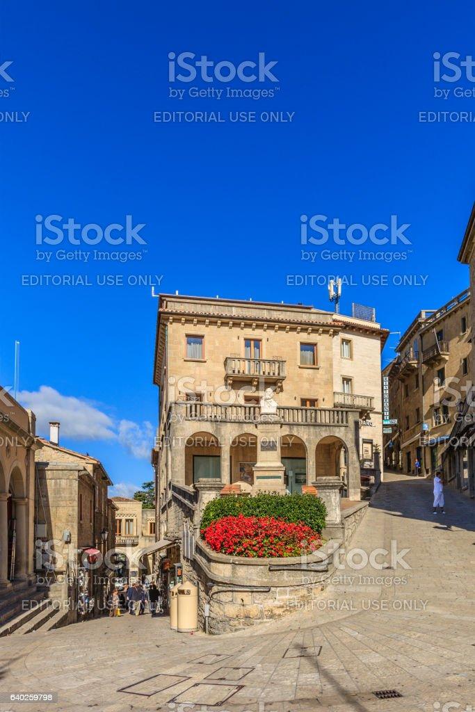 City of San Marino, Old Town stock photo