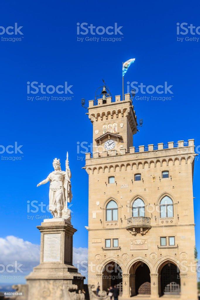 City of San Marino, Piazza della Libertà stock photo