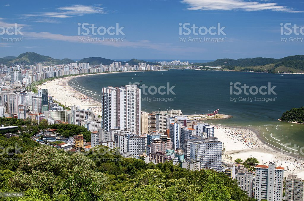 City of Santos stock photo