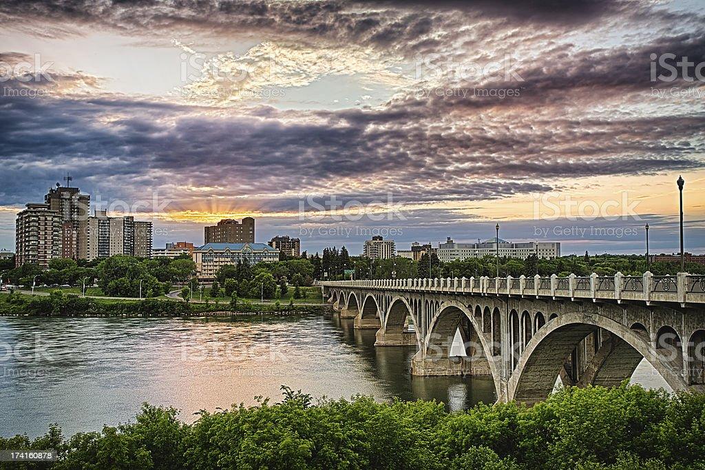 City of Saskatoon royalty-free stock photo