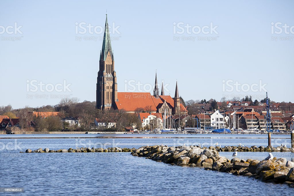 City of Schleswig at the Schlei, Germany stock photo