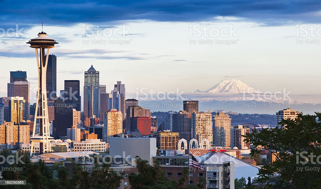 City of Seattle royalty-free stock photo