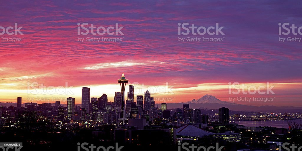 City of Seattle skyline, USA royalty-free stock photo