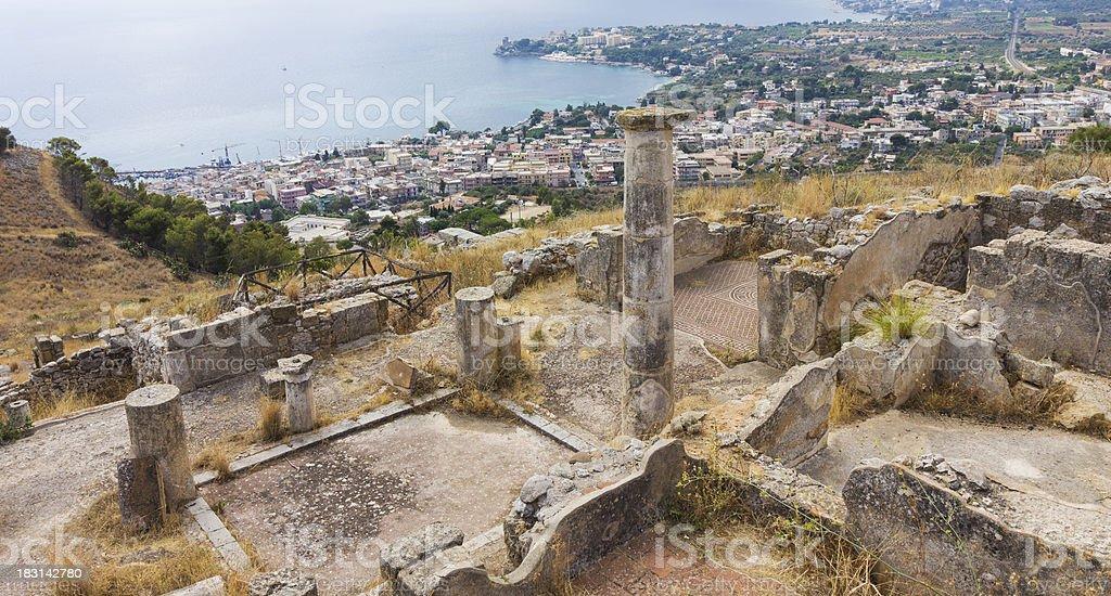 Città di Solunto, Palermo, Italia foto stock royalty-free