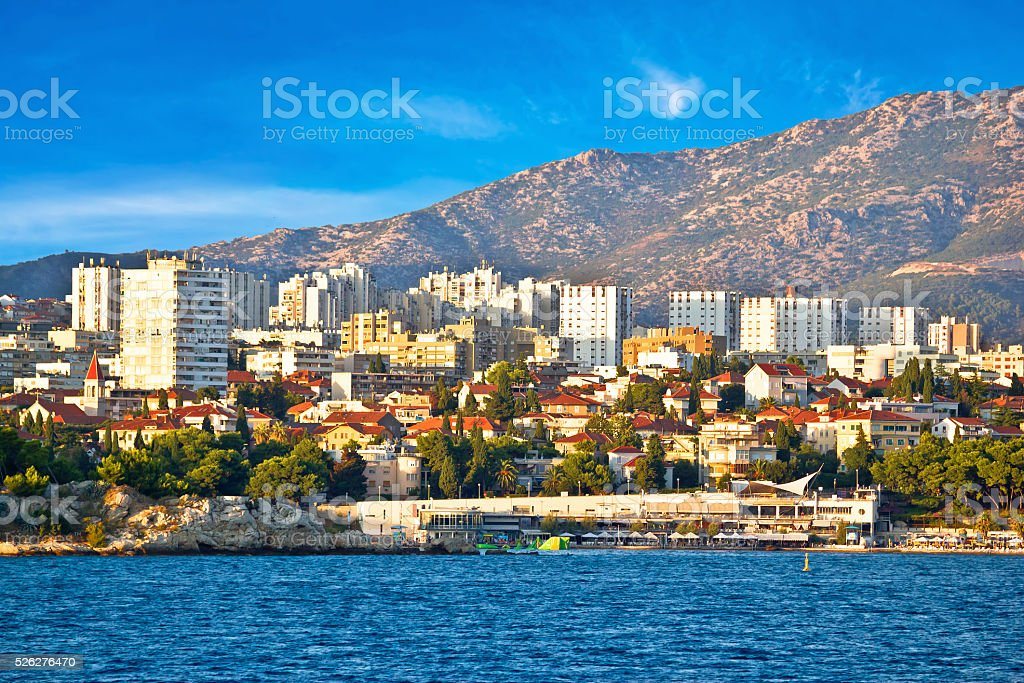 City of Split waterfront view stock photo