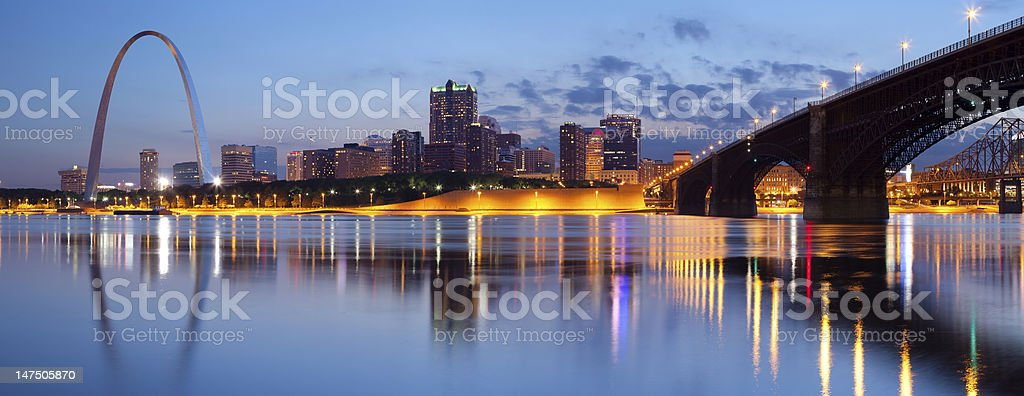 City of St. Louis skyline. stock photo