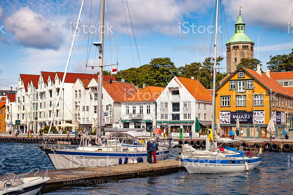 City of Stavanger stock photo