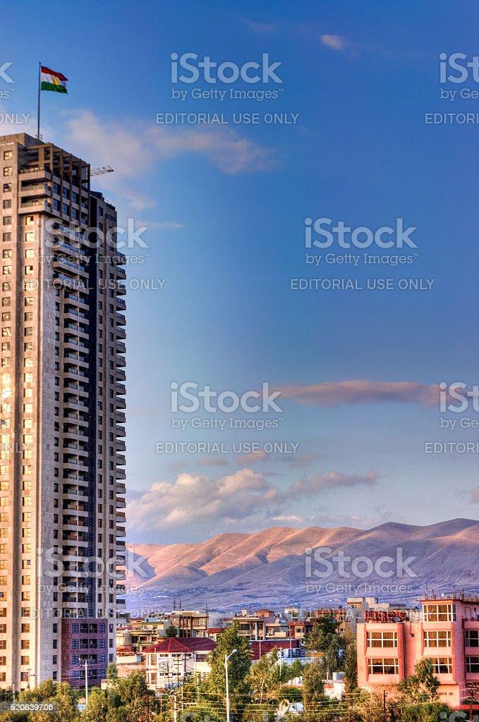 City of Sulaymaniyah - HDR Image stock photo