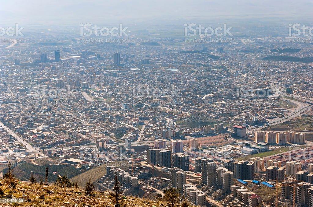 City of Sulaymaniyah stock photo