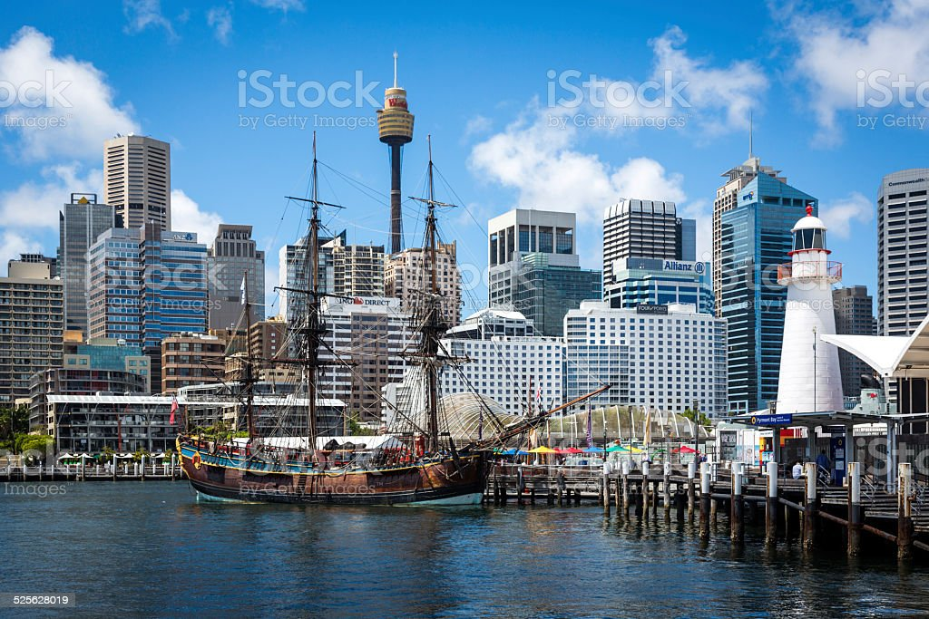 City of Sydney and Darling Harbour, Australia stock photo