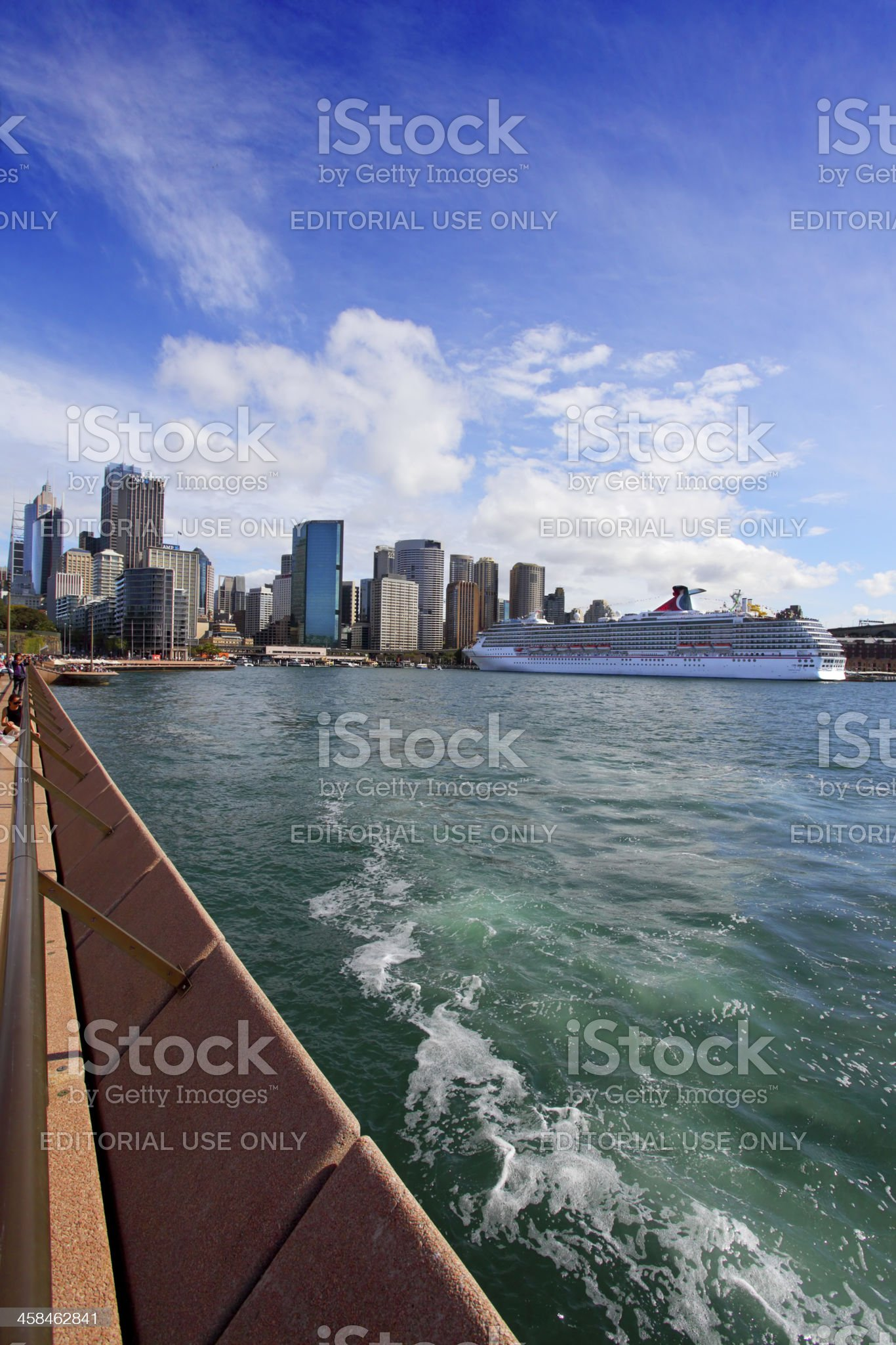 City of Sydney Circular Quay, harbour and The Rocks royalty-free stock photo