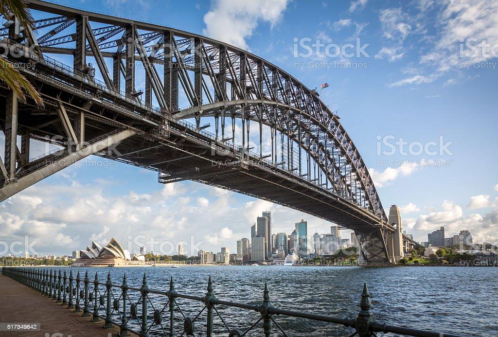 City of Sydney Cityscape and Harbour Bridge stock photo