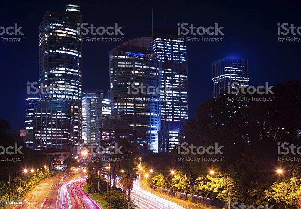 City of Sydney Cityscape at NIght, Australia royalty-free stock photo