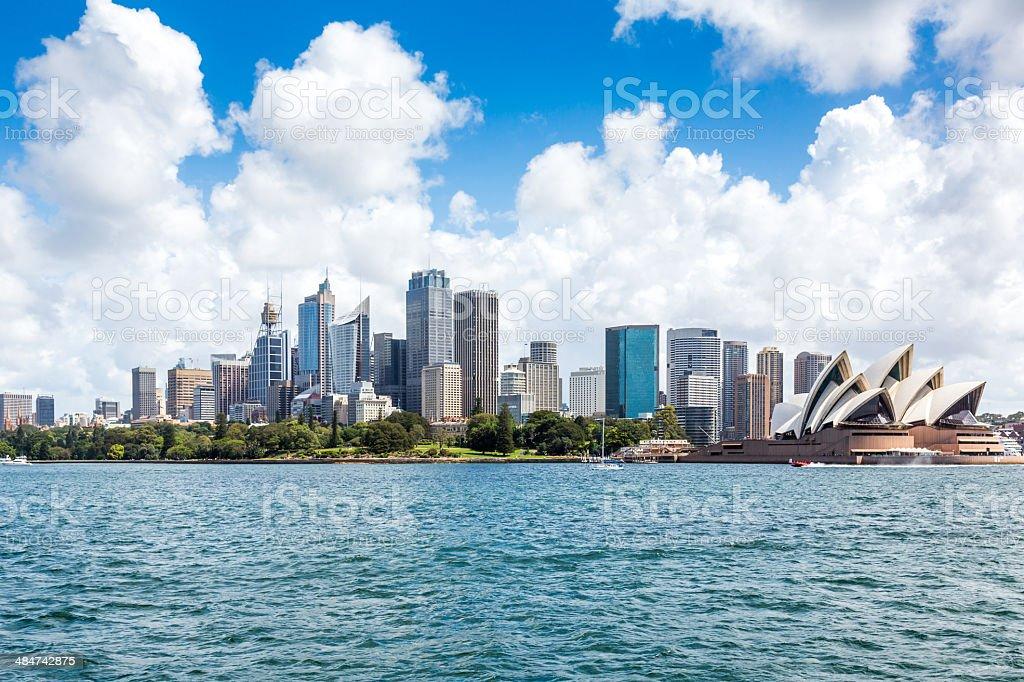 City of Sydney Cityscape with Opera House Daytime stock photo