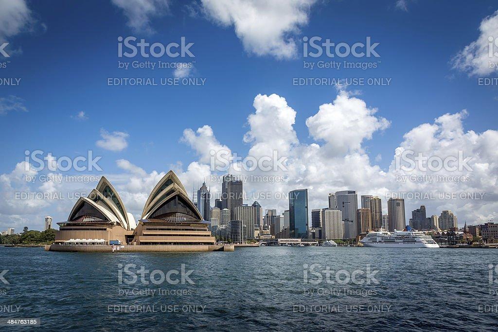 City of Sydney Cityscape with Opera House Daytime royalty-free stock photo