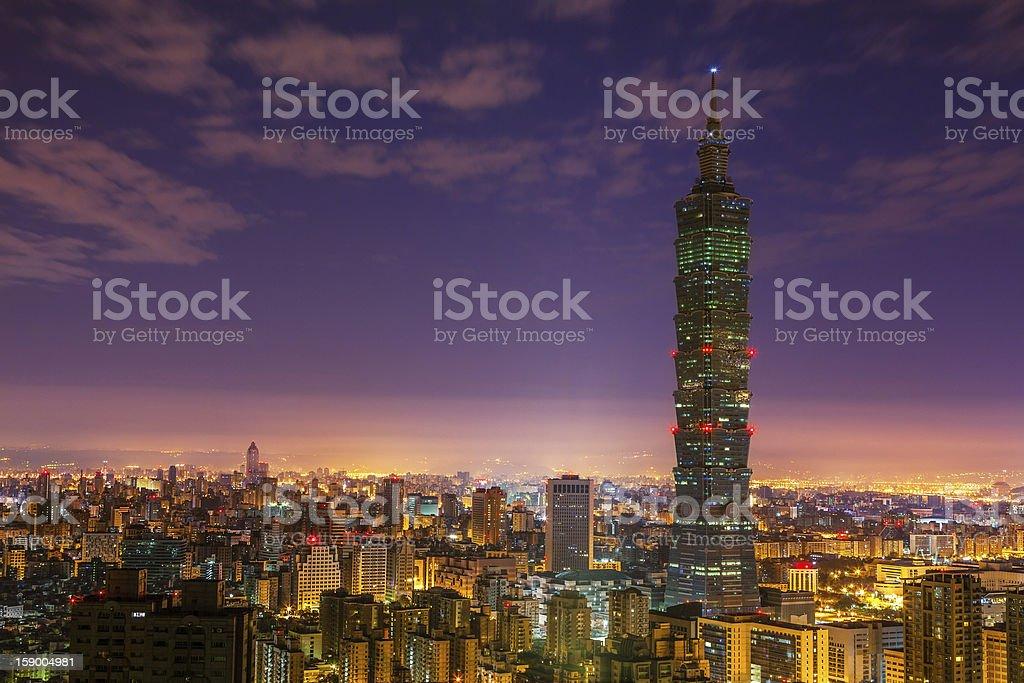 City of Taipei at night royalty-free stock photo