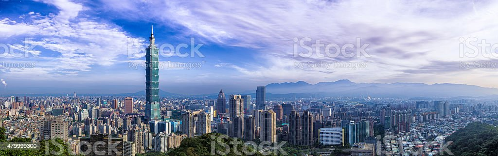 City of Taipei  Panorama stock photo