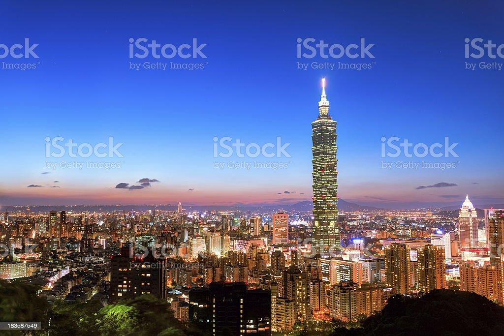 City of Taipei royalty-free stock photo