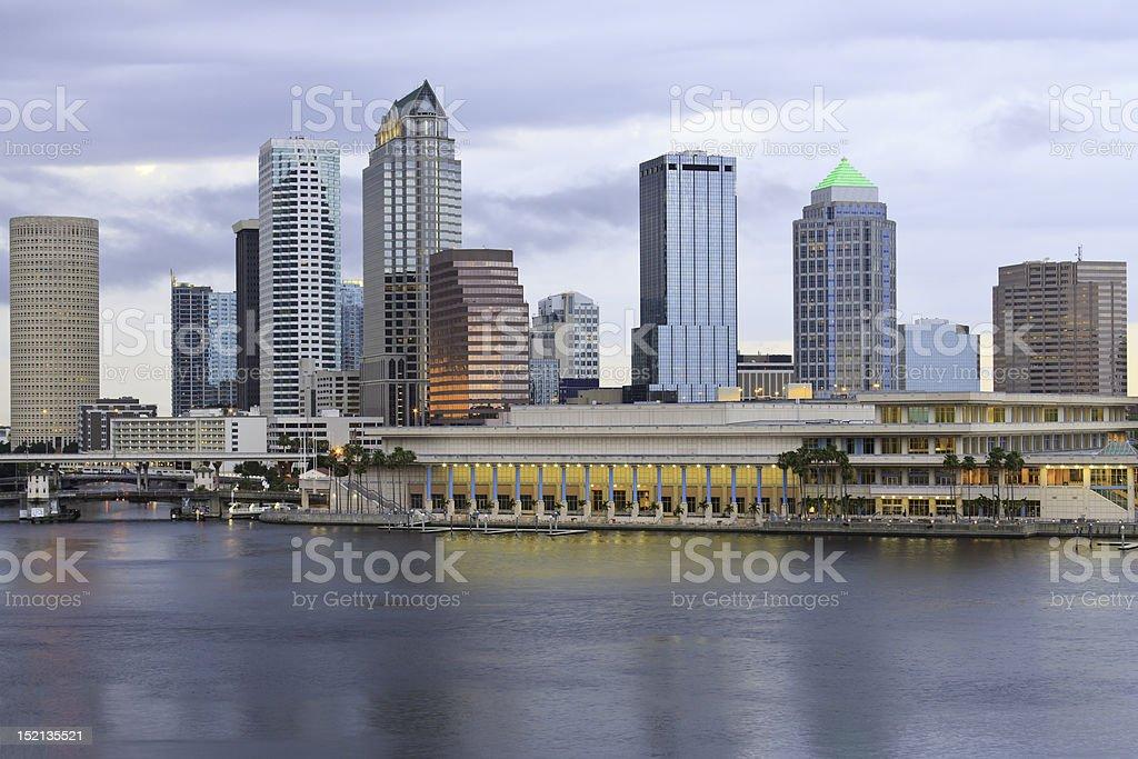 City Of Tampa Florida Skyline stock photo