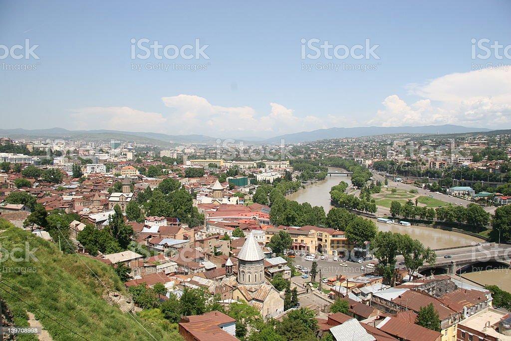 City of Tbilisi, capital of Georgia royalty-free stock photo