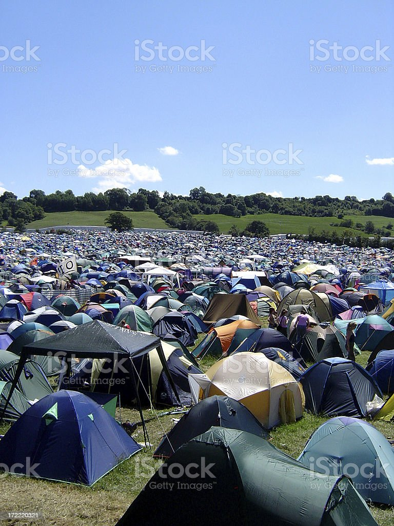 City of Tents - Glastonbury Festival stock photo