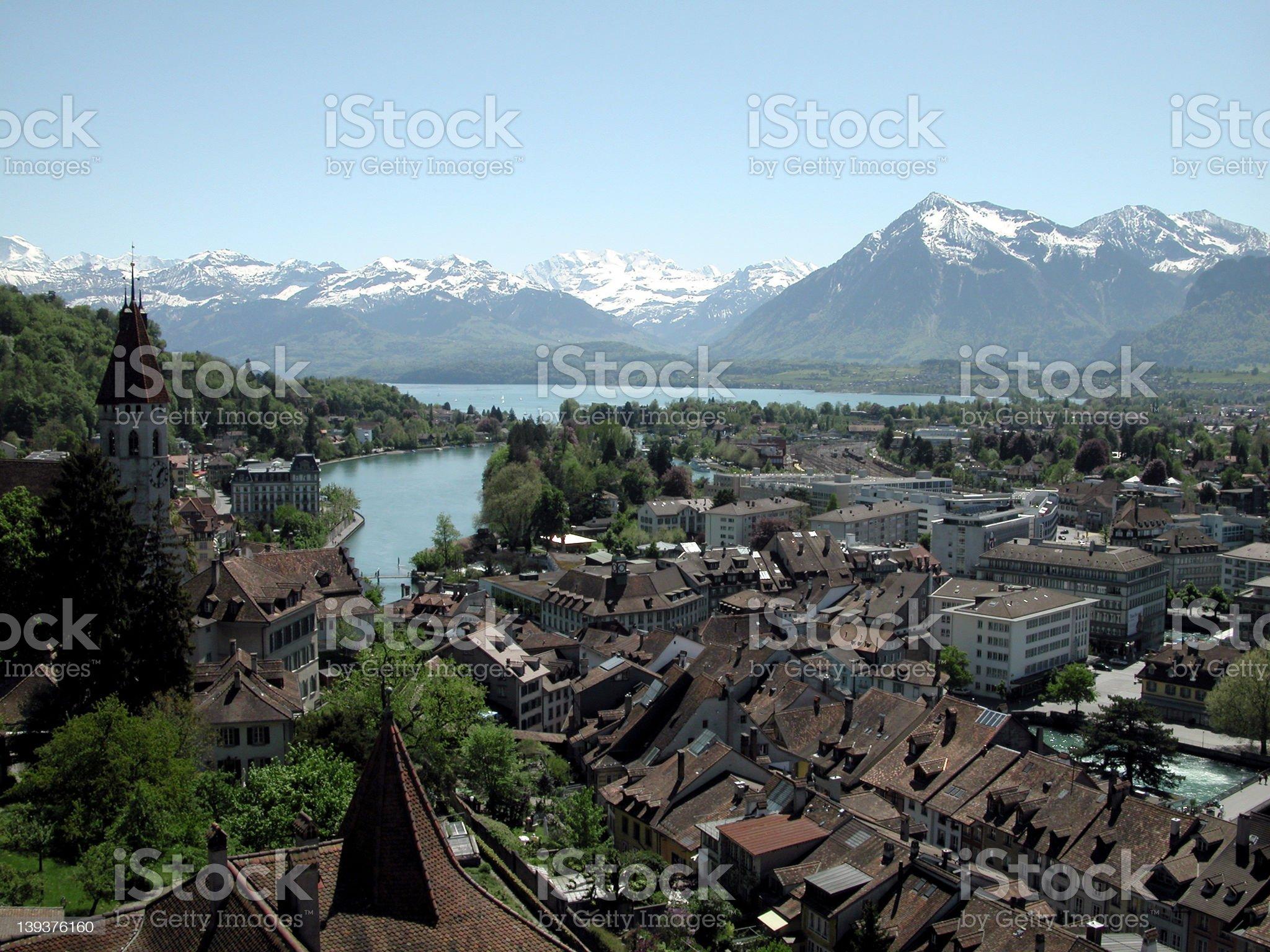 city of thun royalty-free stock photo