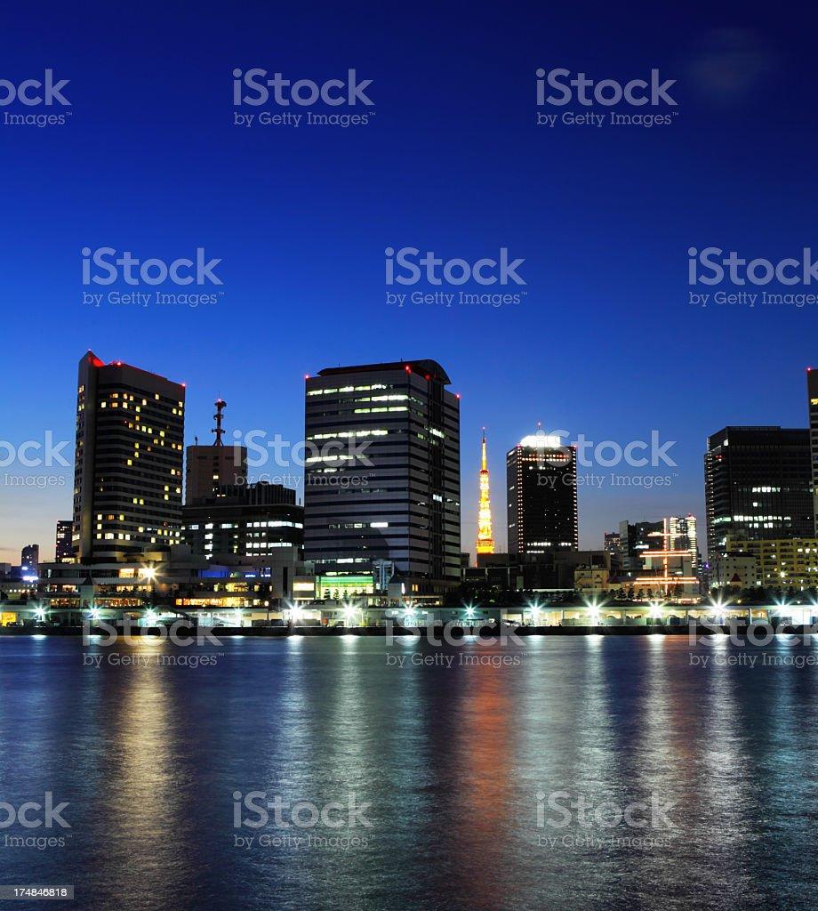 city of Tokyo at night royalty-free stock photo
