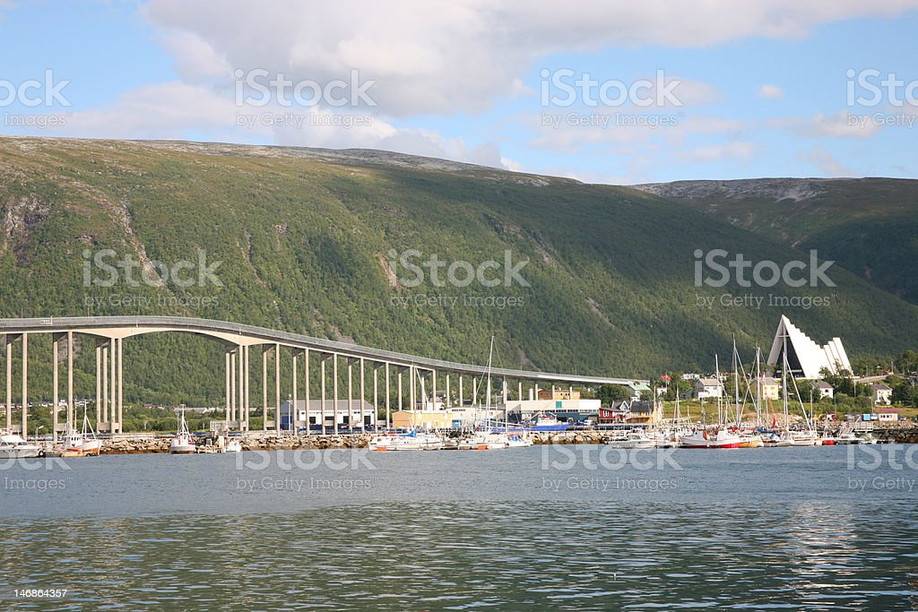 City of Tromso in North Norway stock photo