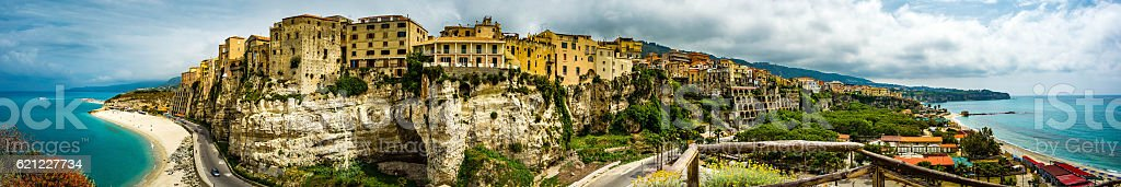 City of Tropea stock photo