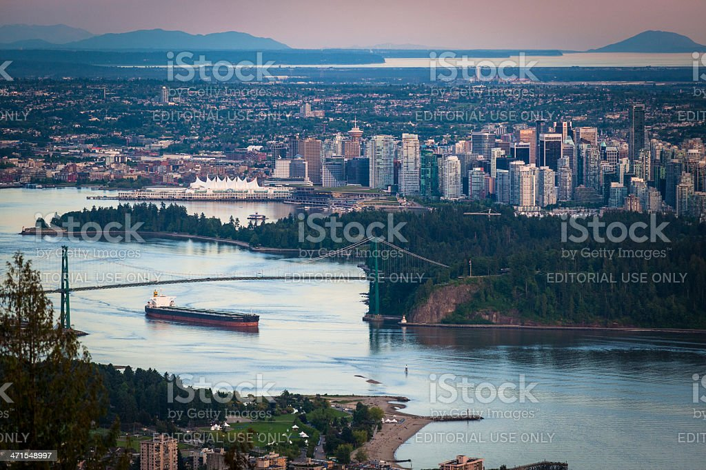 City of Vancouver at Sunset stock photo