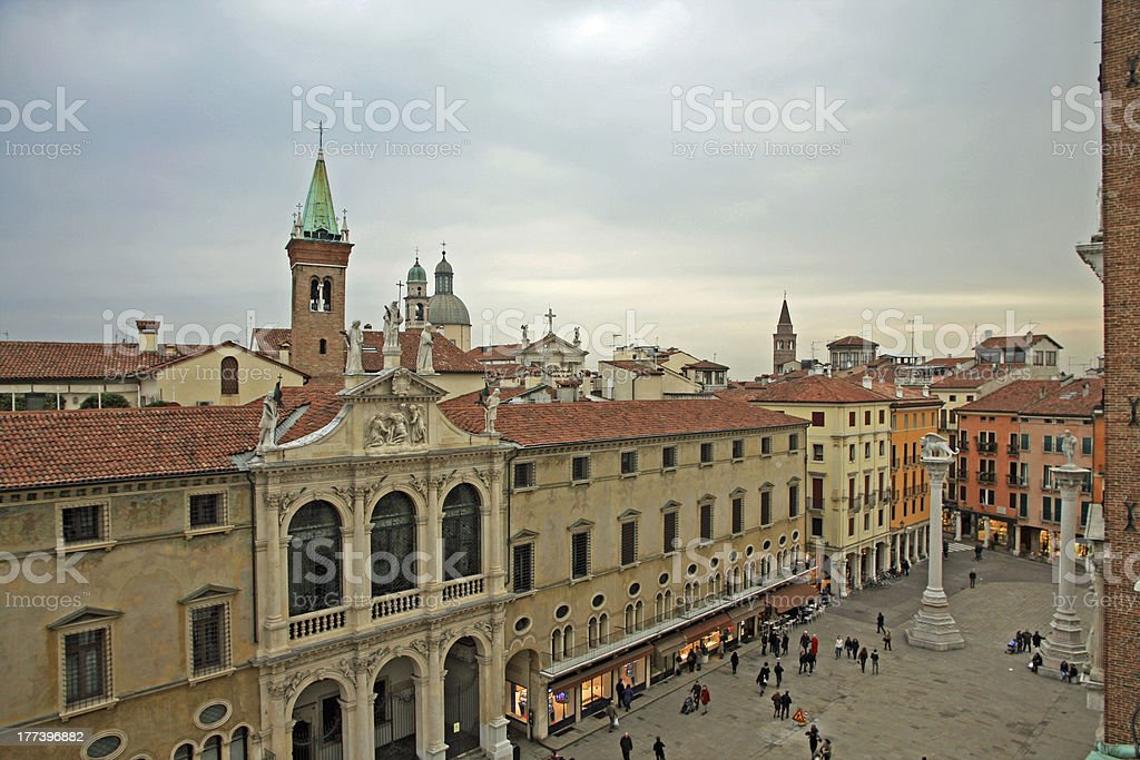 city of vicenza and the main square royalty-free stock photo