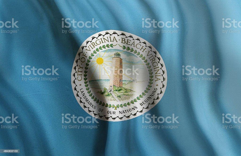 City of Virginia Beach State of Virginia Flag stock photo