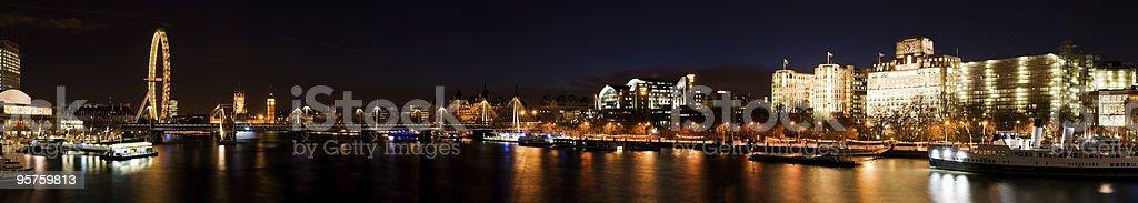 XXXL - City of Westminster. (Big Ben, London Eye) royalty-free stock photo